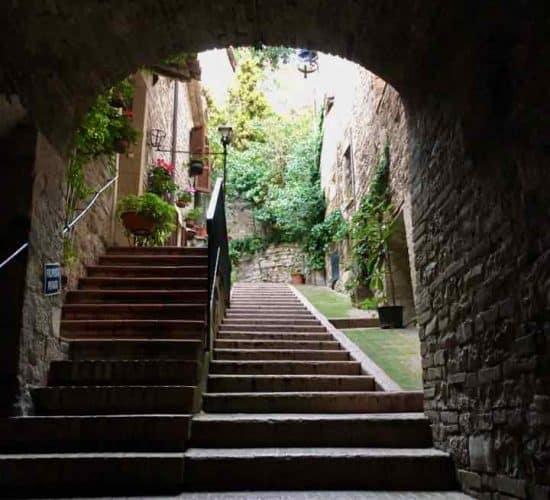 Assisi Street scene on tour