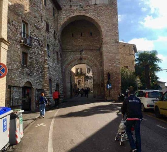 Assisi entrance for pilgrims