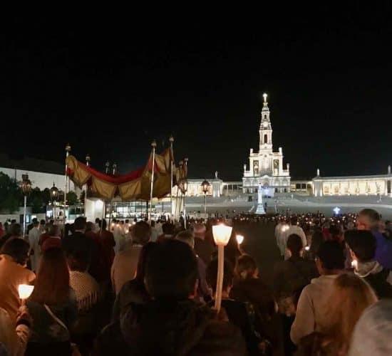 Fatima night procession on pilgrimage