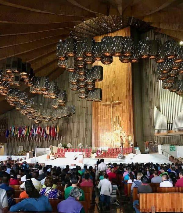 Our Lady of Guadalupe Shrine Interior pilgrims