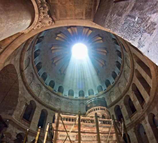 Church of the Holy Sepulchre sunlight Holy Land pilgrimage
