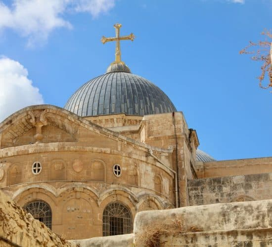 Holy Sepulchre Dome in Jerusalem in Holy Land