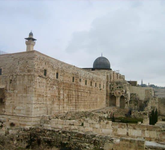 Jerusalem wall on pilgrimage tour