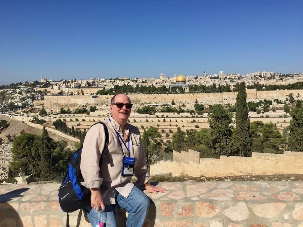 jimmy hyland in jerusalem on Holy land tour