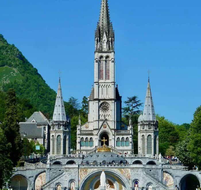 Lourdes rosary basilica on pilgrimage