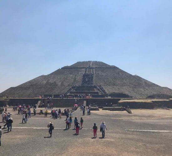 Mexico pyramid sun