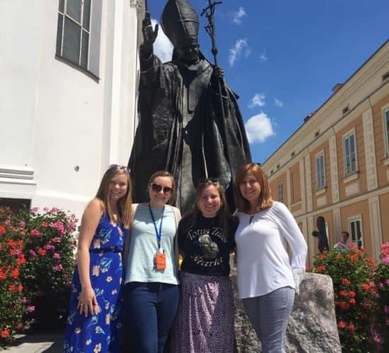 Poland jPII statue Divine Mercy trip