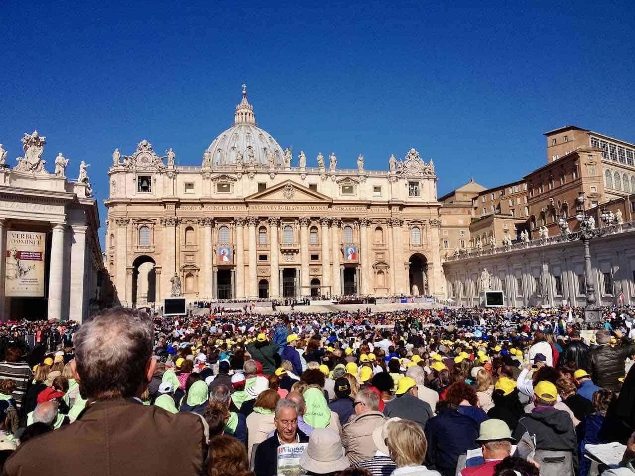 St Peters Square Rome Pilgrimage tour