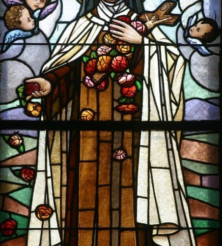 St Therese Lisieux glass