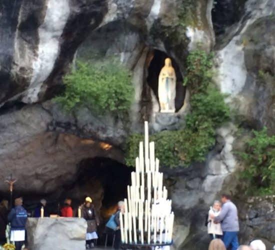 lourdes grotto close up tour